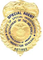 AFOSI Retired Badge
